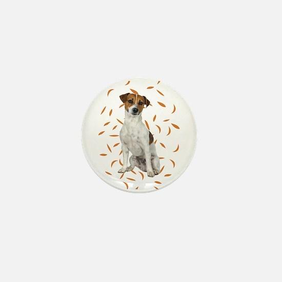 Autumn Jack Russell Terrier Mini Button