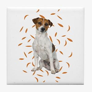 Autumn Jack Russell Terrier Tile Coaster