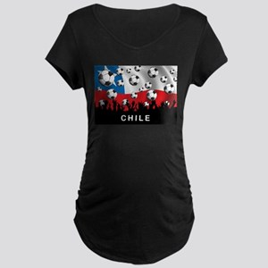 Chile Football Maternity Dark T-Shirt