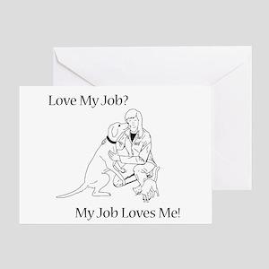 Veterinary Design (Female) Greeting Card