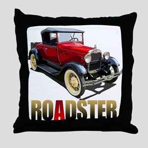 The Red A Roadster Throw Pillow