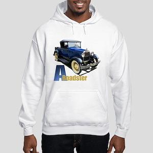 A Blue Roadster Hooded Sweatshirt