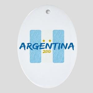 Argentina Futbol 2010 Ornament (Oval)