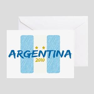 Argentina Futbol 2010 Greeting Card
