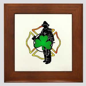 Irish Fire Symbols Framed Tile