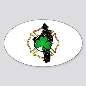 Irish Fire Symbols Sticker (Oval)