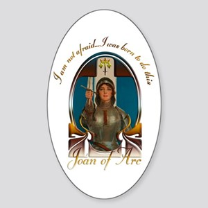 Joan of Arc Nouveau Sticker (Oval)