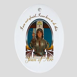 Joan of Arc Nouveau Ornament (Oval)