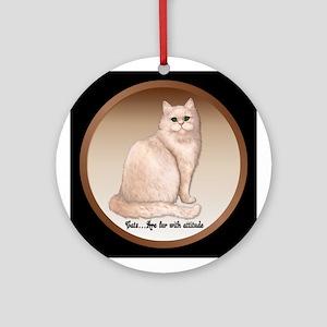Cat Attitude Ornament (Round)