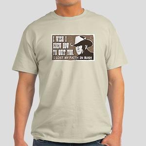 Brokeback Mountain Anti-Bush Ash Grey T-Shirt