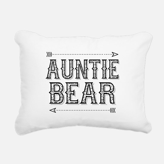 Auntie Bear Rectangular Canvas Pillow