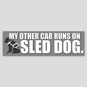 Sled Dog Bumper Sticker