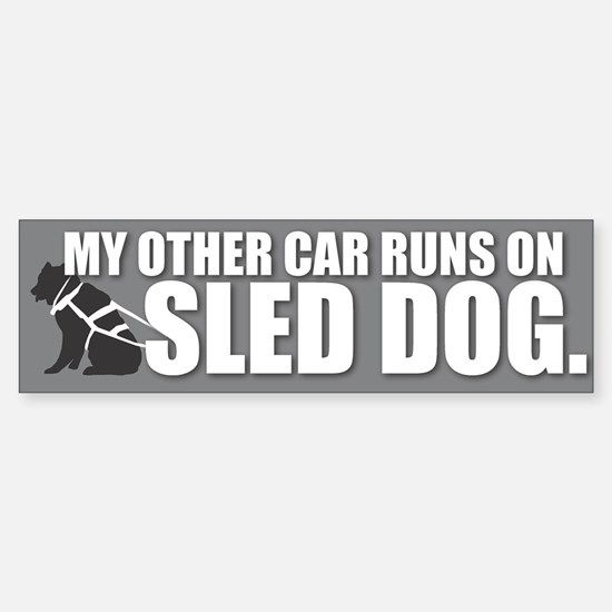 Sled Dog Bumper Bumper Bumper Sticker
