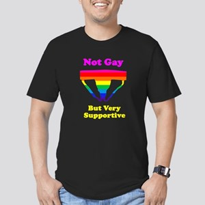 Not Gay But Very Supportive Men's Fitted T-Shirt (