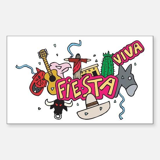 Viva Fiesta Rectangle Decal