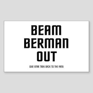 Beam Berman Out Rectangle Sticker