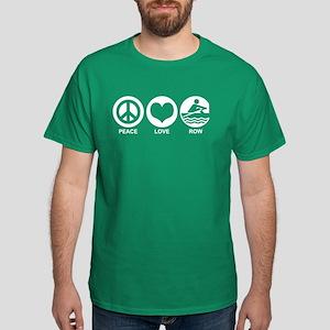 Peace Love Row Dark T-Shirt
