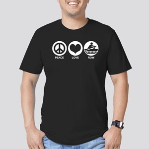 Peace Love Row Men's Fitted T-Shirt (dark)