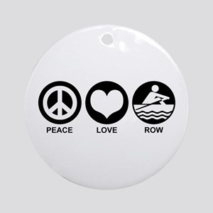 Peace Love Row Ornament (Round)