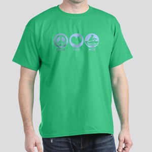 Peace Love Row Dark T-Shirt
