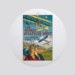 The People's Aviation Meet Ornament (Round)