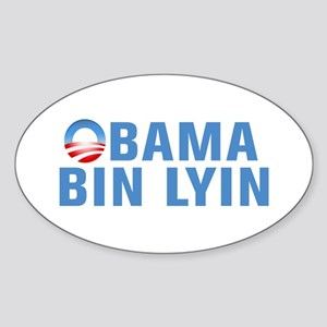Anti Obama Sticker (Oval)
