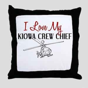 Kiowa Crew Chief Throw Pillow