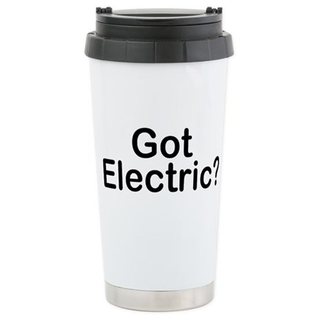 Got Electric? Stainless Steel Travel Mug