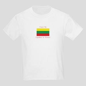 Feed Me Cepelinai and Kisses Kids Light T-Shirt