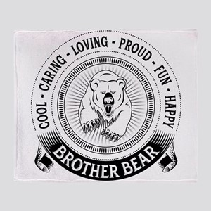 Fiercely Protective Brother Bear Throw Blanket