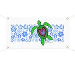 ILY Hawaii Turtle Banner