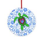 ILY Hawaii Turtle Ornament (Round)
