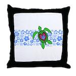 ILY Hawaii Turtle Throw Pillow