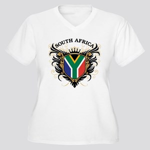 South Africa Women's Plus Size V-Neck T-Shirt