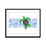 ILY Hawaii Turtle Framed Panel Print