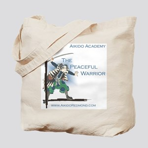 Peaceful Warrior, Calligraphy Tote Bag