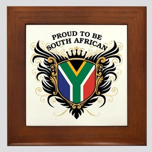 Proud South African Framed Tile