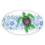 ILY Hawaii Turtle Sticker (Oval 50 pk)