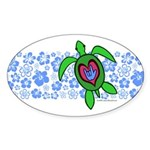 ILY Hawaii Turtle Sticker (Oval 10 pk)
