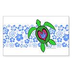 ILY Hawaii Turtle Sticker (Rectangle)
