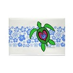 ILY Hawaii Turtle Rectangle Magnet