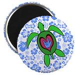 ILY Hawaii Turtle Magnet