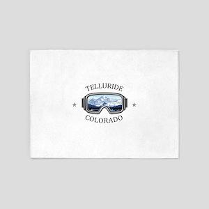 Telluride Ski Resort - Telluride 5'x7'Area Rug