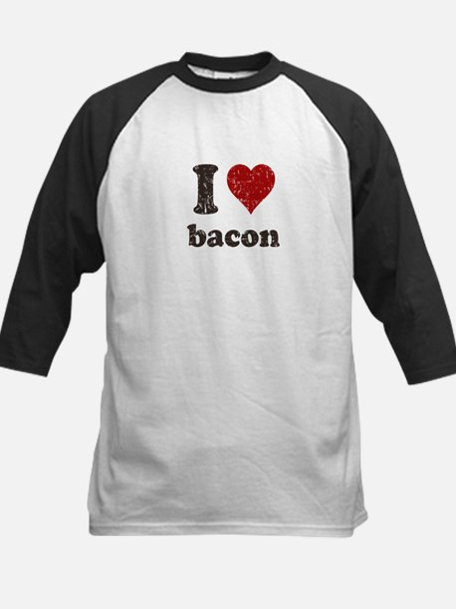 I heart bacon Kids Baseball Jersey