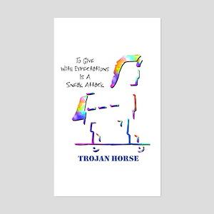 Trojan Horse Rectangle Sticker