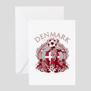 Denmark Soccer Greeting Card