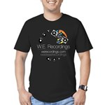 Men's Fitted W.e. Recordings T-Shirt (dark)