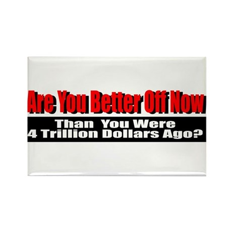 Are You Better Off Now Rectangle Magnet (100 pack)