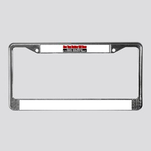 Are You Better Off Now License Plate Frame