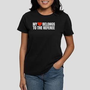 My Heart Belongs To The Referee Women's Dark T-Shi